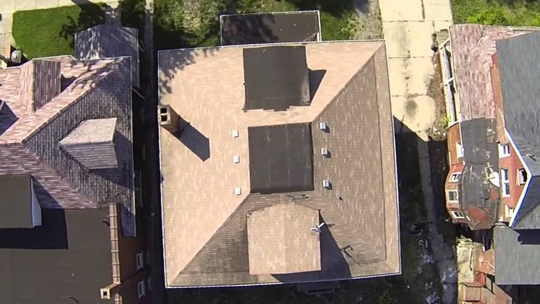 Aerial roof and building surveys