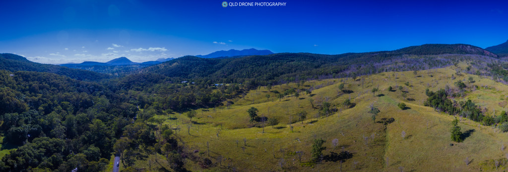Main Range National Park from the foothills in Fassifern Valley