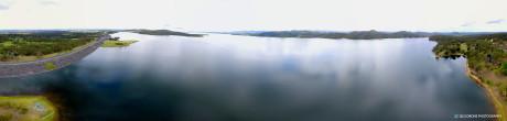 Lake Wivenhoe aerial panorama
