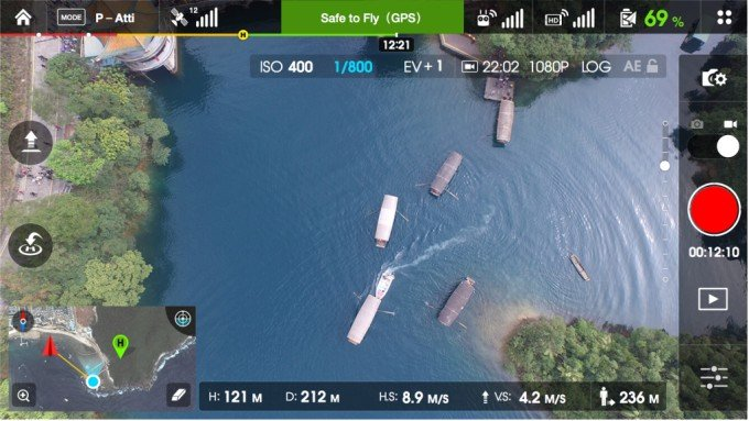 DJI Phantom camera settings