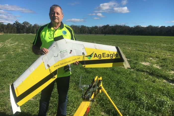 Tony Gilbert with AgEagle UAV