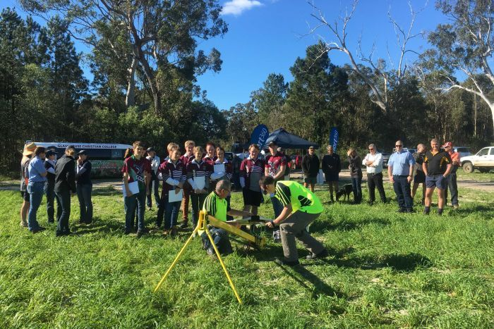 Launching fixed wing UAV in Beerwah